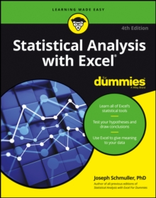 Statistical Analysis with Excel For Dummies, Paperback Book