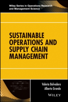 Sustainable Operations and Supply Chain Management, Hardback Book