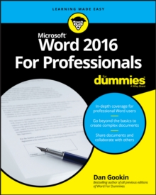 Word 2016 For Professionals For Dummies, Paperback / softback Book