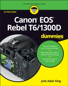 Canon Eos Rebel T6/1300D for Dummies, Paperback Book