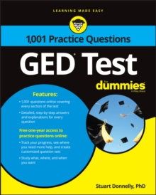 1,001 GED Practice Questions For Dummies, Paperback Book