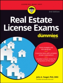 Real Estate License Exams For Dummies, Paperback / softback Book