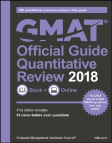 GMAT Official Guide 2018 Quantitative Review: Book + Online, Paperback Book