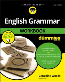 English Grammar Workbook For Dummies, with Online Practice, Paperback Book