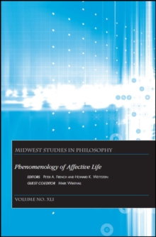 Phenomenology of Affective Life, Paperback Book
