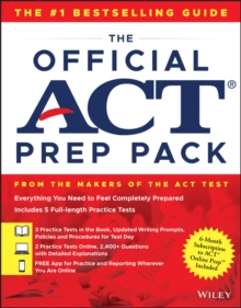 The Official ACT Prep Pack with 5 Full Practice Tests (3 in Official ACT Prep Guide + 2 Online), Paperback Book
