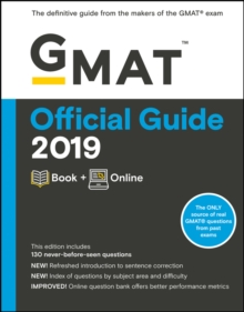 GMAT Official Guide 2019 : Book + Online, Paperback / softback Book