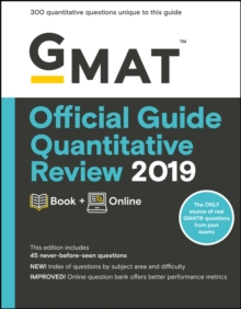 GMAT Official Guide Quantitative Review 2019 : Book + Online, Paperback Book