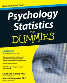 Psychology Statistics For Dummies, Paperback Book