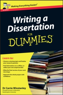 Writer a dissertation for dummies technical
