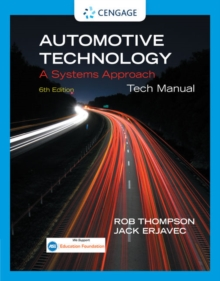 Tech Manual for Erjavec's Automotive Technology: A Systems Approach, Paperback / softback Book