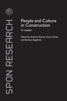 People and Culture in Construction : A Reader, PDF eBook