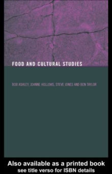 Food and Cultural Studies, PDF eBook