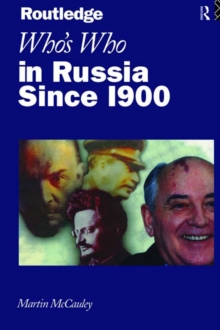 Who's Who in Russia since 1900, PDF eBook