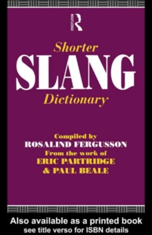 Shorter Slang Dictionary, PDF eBook