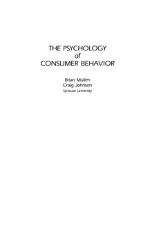 The Psychology of Consumer Behavior, PDF eBook