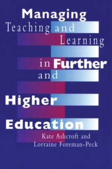 Managing Teaching and Learning in Further and Higher Education, PDF eBook