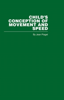 Child's Conception of Movement and Speed, PDF eBook