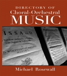 Directory of Choral-Orchestral Music, EPUB eBook