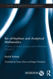 Ibn al-Haytham and Analytical Mathematics : A History of Arabic Sciences and Mathematics Volume 2, PDF eBook