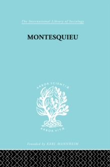 Montesquieu : Pioneer of the Sociology of Knowledge, EPUB eBook