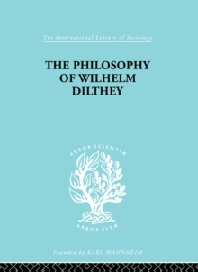 Philosophy of Wilhelm Dilthey, PDF eBook