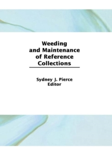Weeding and Maintenance of Reference Collections, EPUB eBook