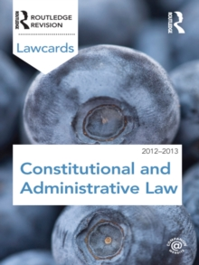 Constitutional and Administrative Lawcards 2012-2013, EPUB eBook