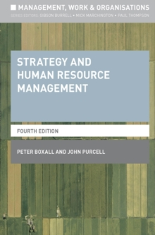 Strategy and Human Resource Management, Paperback / softback Book