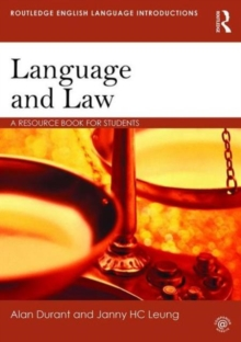 Language and Law : A Resource Book for Students, Paperback Book