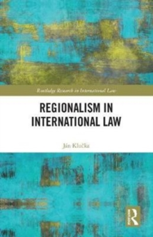 Regionalism in International Law, Hardback Book
