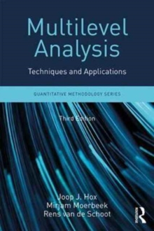 Multilevel Analysis : Techniques and Applications, Third Edition, Paperback Book