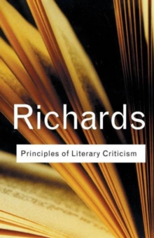 Principles of Literary Criticism, Paperback Book