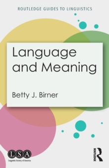 Language and Meaning, Paperback Book