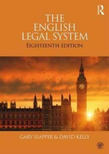 The English Legal System, Paperback Book