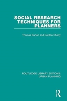 Social Research Techniques for Planners, Hardback Book