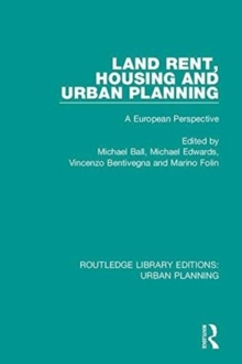 Land Rent, Housing and Urban Planning : A European Perspective, Hardback Book