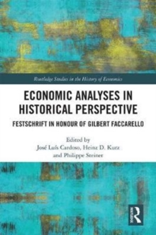 Economic Analyses in Historical Perspective, Hardback Book