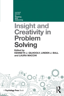 Insight and Creativity in Problem Solving, Paperback Book