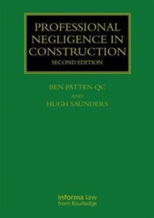 Professional Negligence in Construction, Hardback Book
