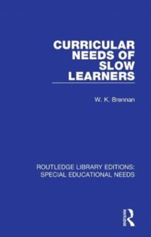 Curricular Needs of Slow Learners, Hardback Book