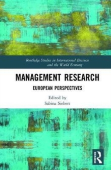 Management Research : European Perspectives, Hardback Book