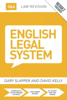Q&A English Legal System, Paperback Book