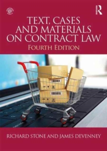 Text, Cases and Materials on Contract Law, Paperback Book