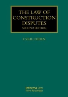 The Law of Construction Disputes, Hardback Book