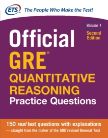 Official GRE Quantitative Reasoning Practice Questions, Volume 1, Second Edition, EPUB eBook