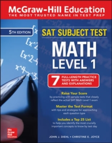 McGraw-Hill Education SAT Subject Test Math Level 1, Fifth Edition, Paperback / softback Book