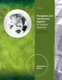 Prealgebra and Introductory Algebra : An Applied Approach, International Edition, Paperback Book