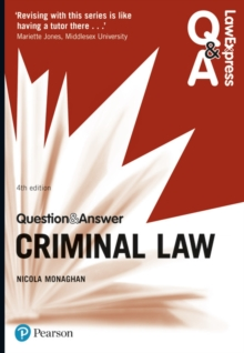 Law Express Question and Answer: Criminal Law, Paperback / softback Book