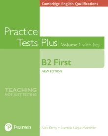Cambridge English Qualifications: B2 First Volume 1 Practice Tests Plus with key, Paperback / softback Book
